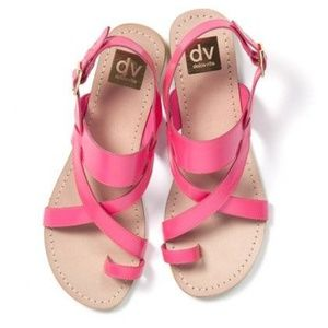 Dolce Vita Pansey Pink Leather Sandals